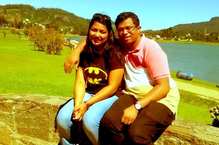 Arjun and his wife in Sri Lanka