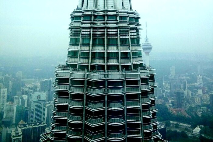 Iconic Twin Towers in Malaysia