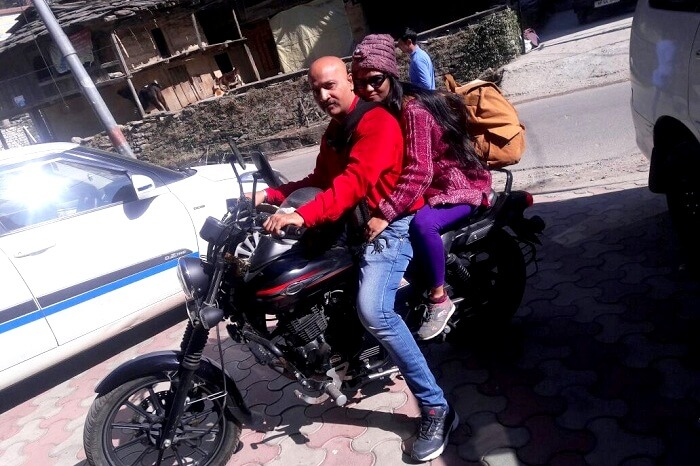 Jayesh and his wife going to Naggar Castle