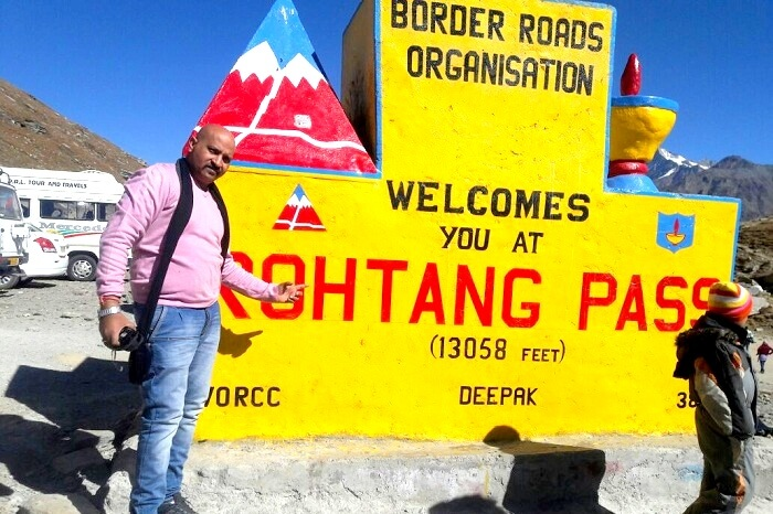 Reaching the heights of Rohtang