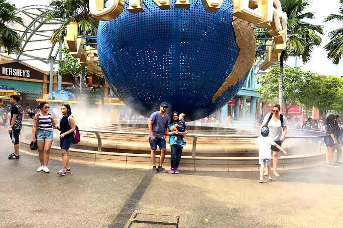Enjoying Universal Studios in Singapore