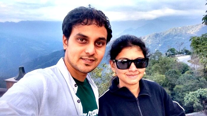 Sanjay and his wife in Gangtok