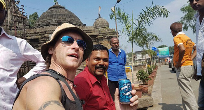 Manny making new friends in India