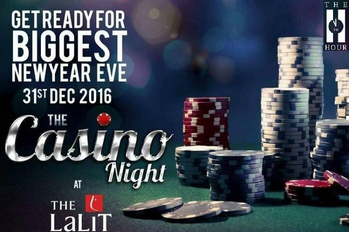 A promotional poster of the New Year Party at The Lalit in Mumbai