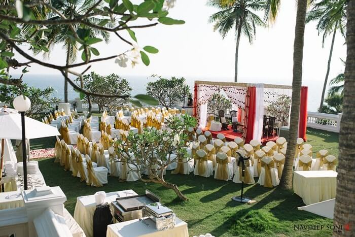 A beach wedding resort in Kerala