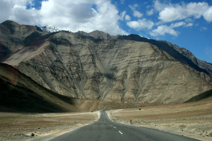 The picturesque Magnetic Hill and the road leading to it