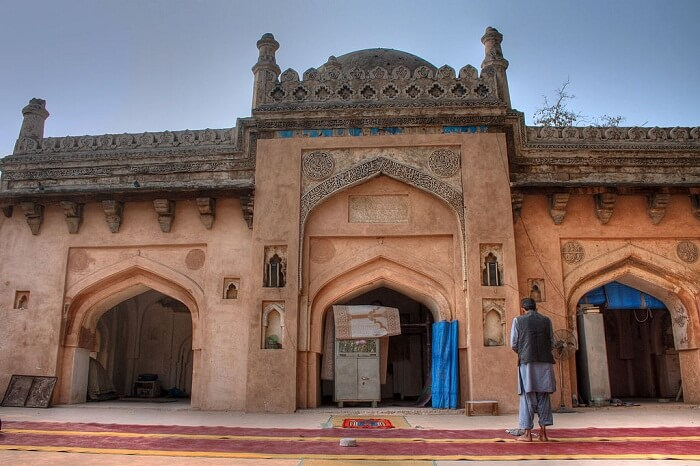 A snap of the Neeli Masjid in the Kharera Village of Delhi