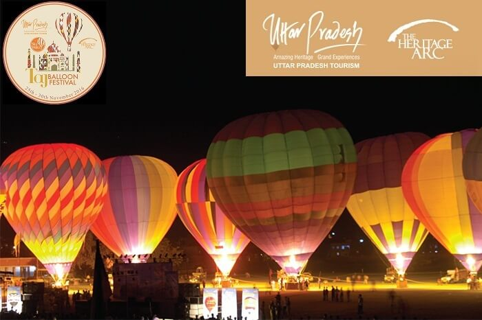 A snap of the Nightglows extravaganza at the Taj Balloon Festival in Agra