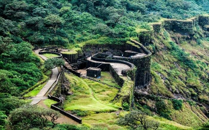 Topview of Raigad Fort