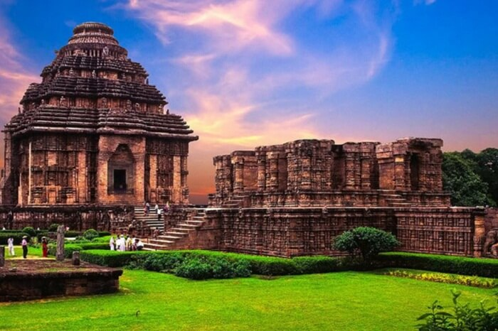 An evening shot of the famous Sun Temple in Konark