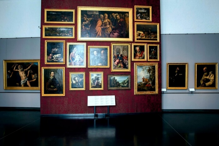 Paintings displayed at Gallerie dell'Accademia in Venice
