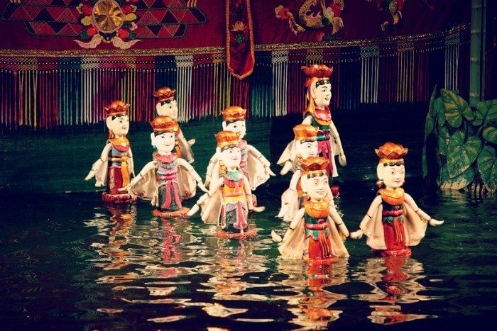 witnessing the delightful water puppet show