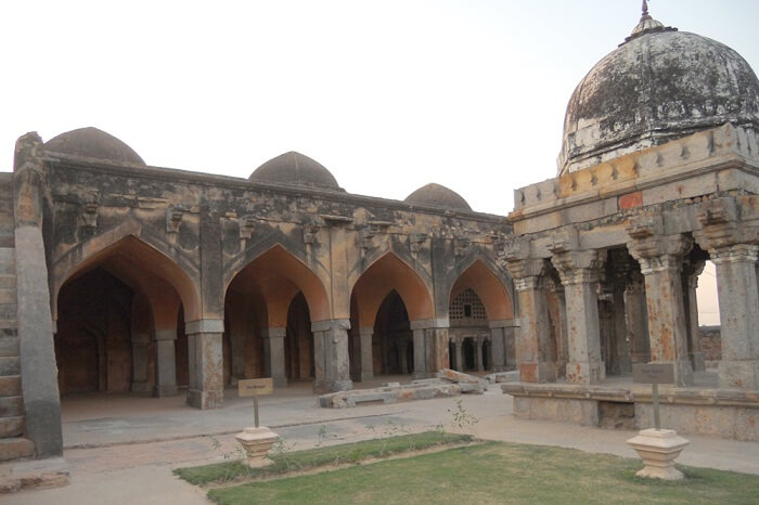 The historical Wazirabad mosque in the old town of Wazirabad