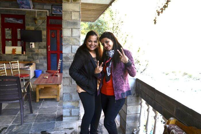akanksha & her friend at hotel