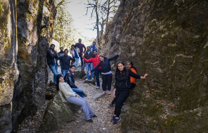 the steep trek to rishi maharaj temple