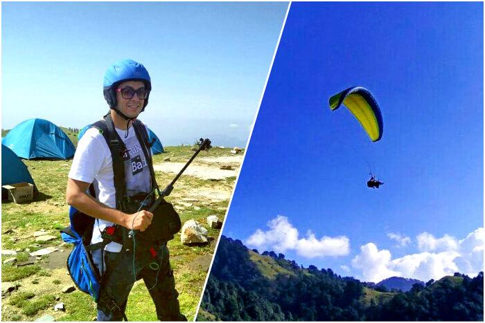 Aman paragliding in Bir Billing