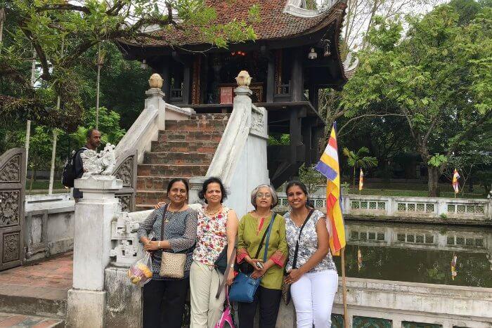 standing before One Pillar Pagoda
