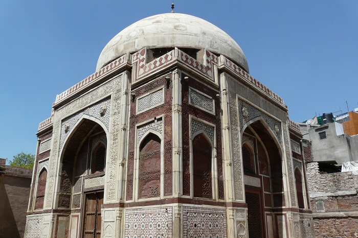 The Atgha Khan Tomb at Nizauddin that is one of the historical places of Delhi
