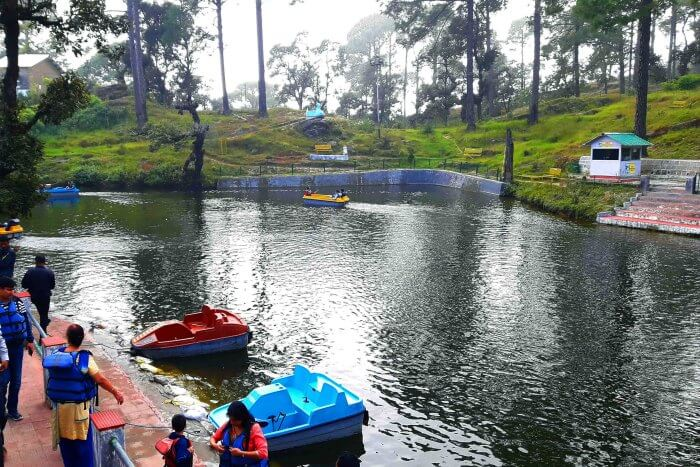 Boating in Bhulla Tal Lake in Lansdowne