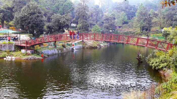 The bridge over Bhulla Tal Lake
