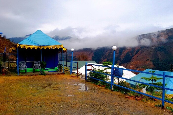 A shot of the Blue Canvas Resort that offers camping