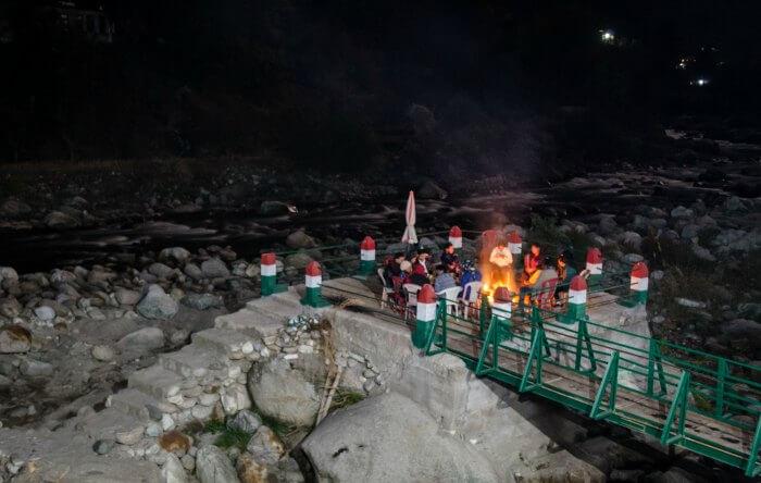 bonfire arranged on group's demand
