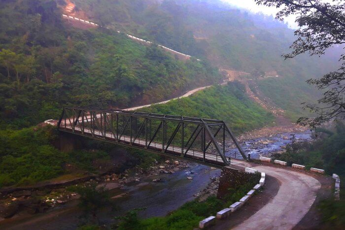 The bridge over the splendid Khoh river