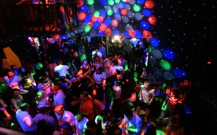 People partying in Club Cubana dancefloor