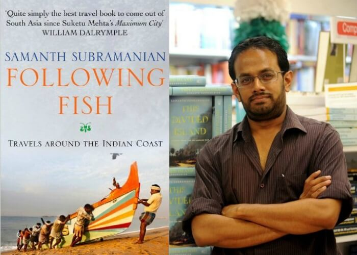 The book jacket and author of the book - Following Fish