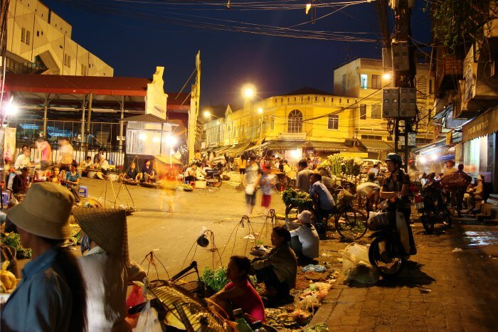 The lively night market in Hanoi