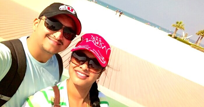 Nithin romantic trip to Dubai