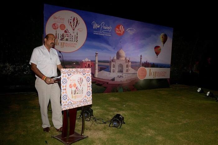 A scene from the press conference of Taj Balloon Festival 2015