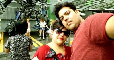 Ravi and his wife on their trip to Malaysia