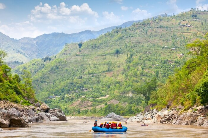 Rafting on the Bhote Koshi in Nepal