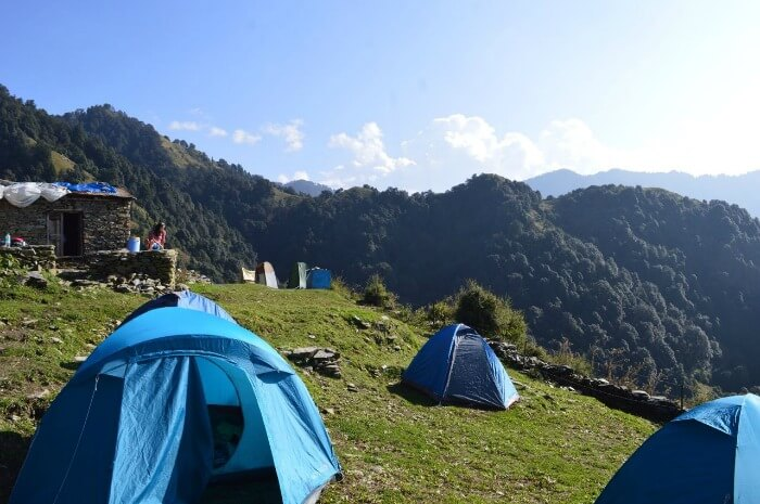 the splendid view of hills at the camps