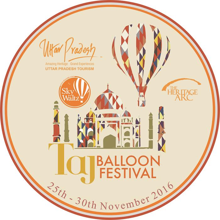 The official logo of the Taj Balloon Festival 2016