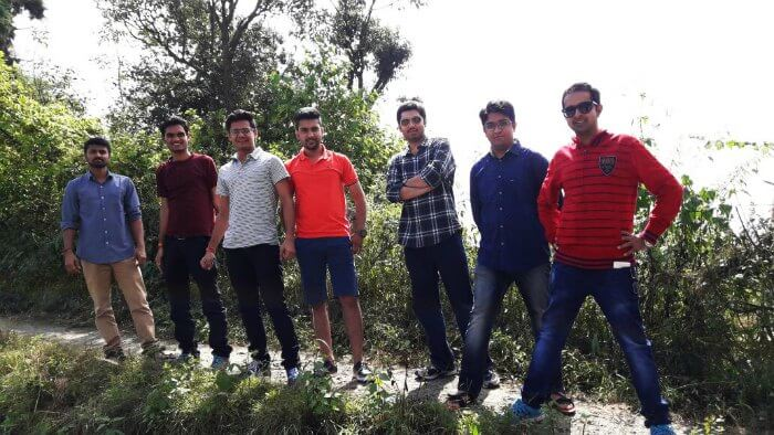 The gang trekking up to Bhulla Tal Lake