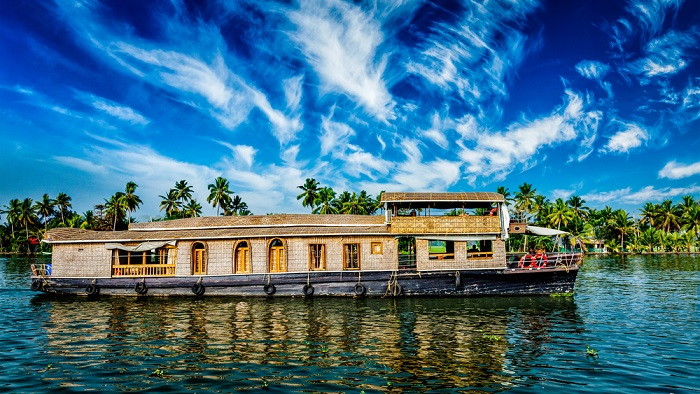 a houseboat in the backwaters of Kerala
