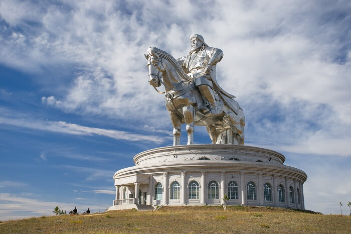 The largest statue of Genghis Khan in the world in Mongolia