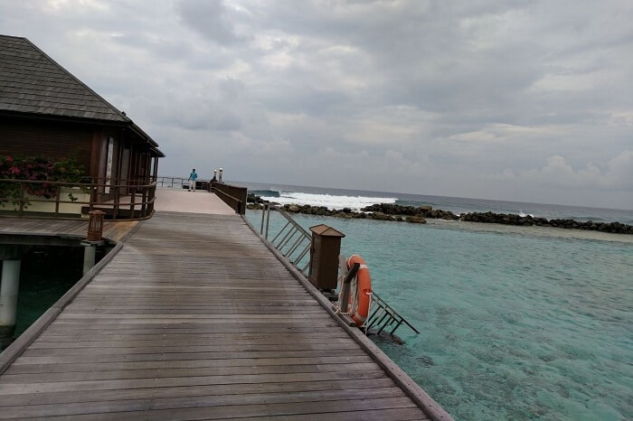 Stunning views of the ocean from water villas