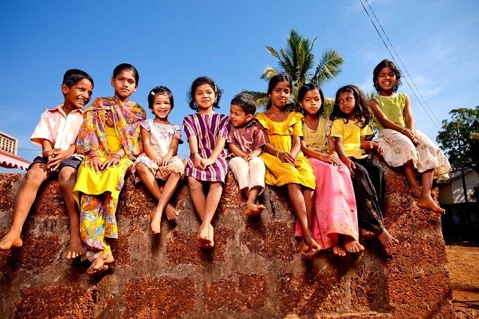 smiling Indian kids