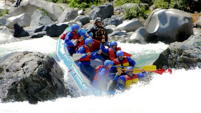 White water rafting in India