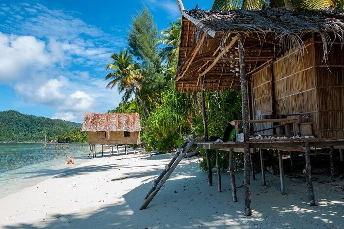 Nipa bamboo Huts in Papua New Guinea