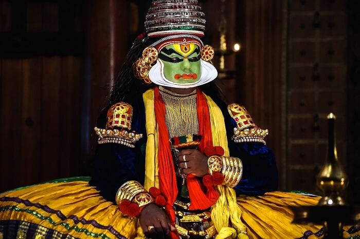 A kathakali dancer from Kerala
