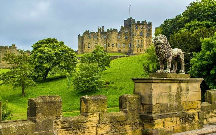 Shot of Alnwick Castle