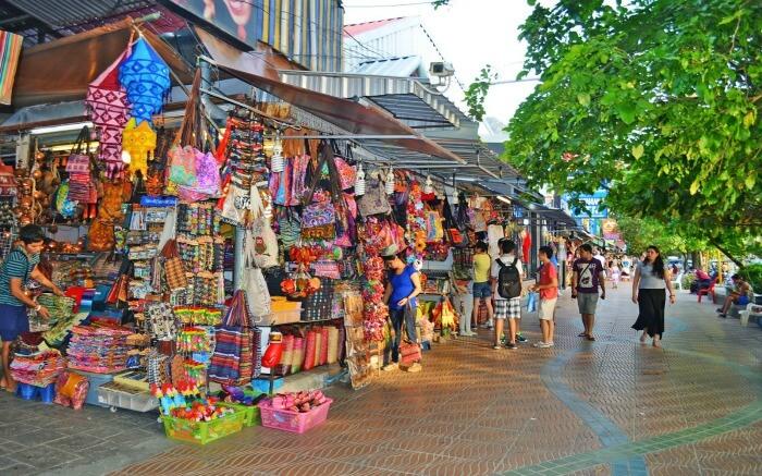 Shopping street in Ao Nang