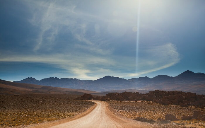 A road in Atacama Desert