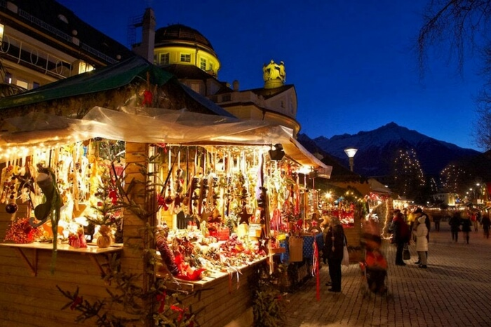 Christmas market in Gressoney Saint Jean in Italy