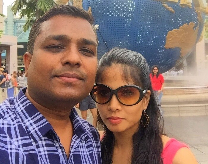 Govind and his wife in Singapore