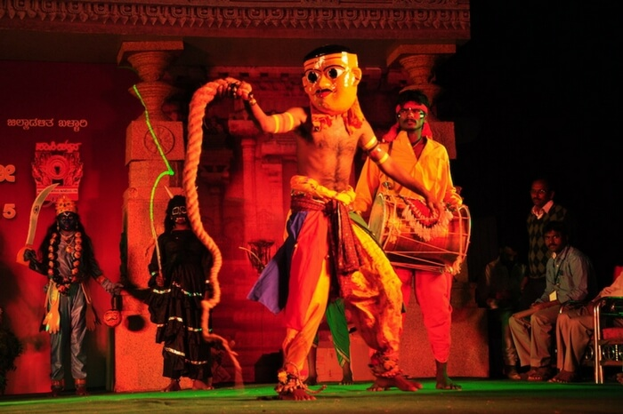 A play in progress at Hampi Utsav